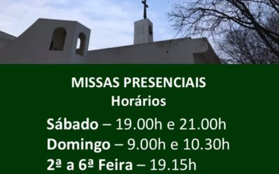 Eucaristias presenciais – Horários